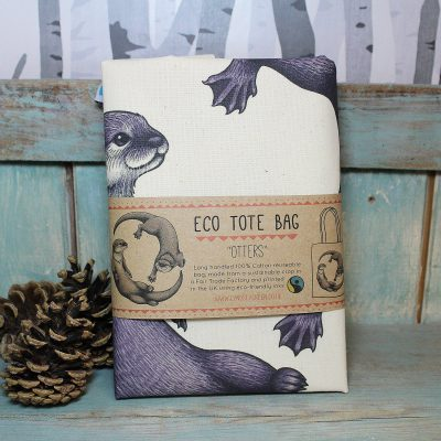 Otters Tote Bag ~ 100% Organic & Fairtrade Cotton