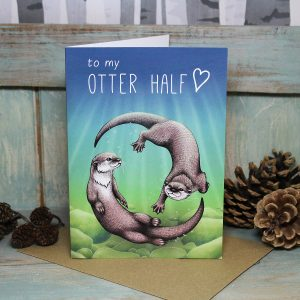 Otter Half Greeting Card