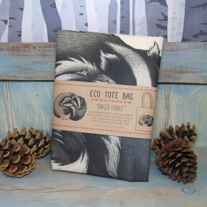 Badger Couple Tote Bag ~ 100% Organic & Fairtrade Cotton