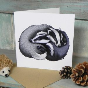 Badger Couple Greeting Card