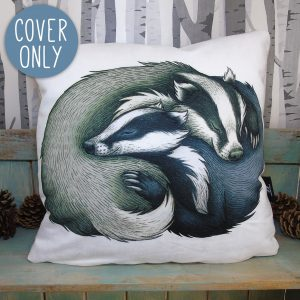 Badger Couple Cushion Cover