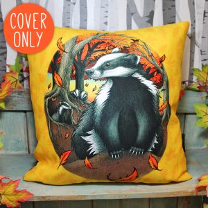 Badgers At Fall Vegan Cushion Cover