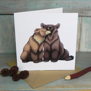 Bear Couple Greeting Card