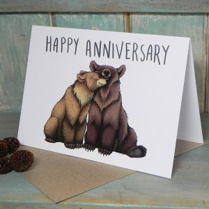 Happy Anniversary Bear Couple Card