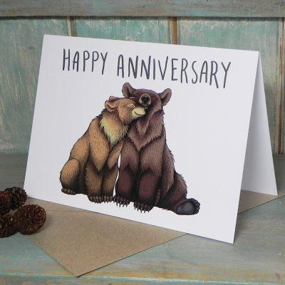 Happy Anniversary Bear Couple Card