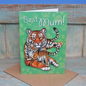 Best Mum Tigers Card