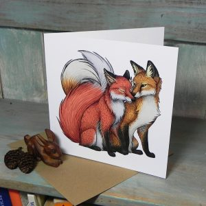 Fox Couple Greeting Card
