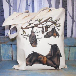 Rodrigues Fruit Bats Tote Bag ~ 100% Organic & Fairtrade Cotton
