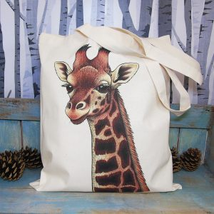 Rothschild's Giraffe Tote Bag ~ 100% Organic & Fairtrade Cotton