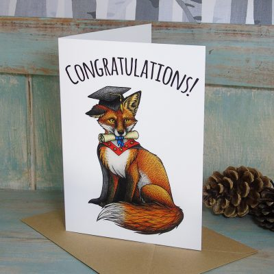 Graduation Fox Congratulations Card