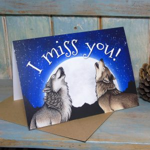Wolf Song 'I Miss You' Greeting Card