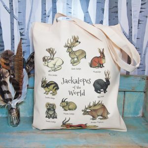 Jackalopes of the World Tote Bag ~ 100% Organic & Fairtrade Cotton