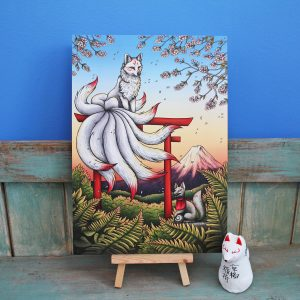 Kitsune Illustration – A4 Print