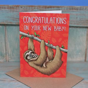 New Baby Sloths Greeting Card