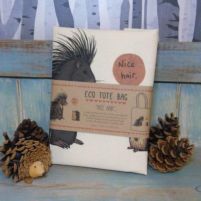 Nice Hair Tote Bag ~ 100% Organic & Fairtrade Cotton