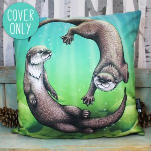 Asian Small-Clawed Otters Cushion Cover
