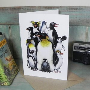 Penguin Obsession Greeting Card
