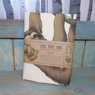 Sloths Tote Bag ~ 100% Organic & Fairtrade Cotton