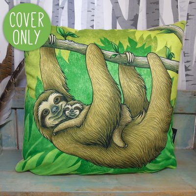 Three-Toed Sloths Cushion Cover