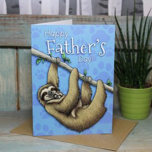 Happy Father's Day Sloths Card