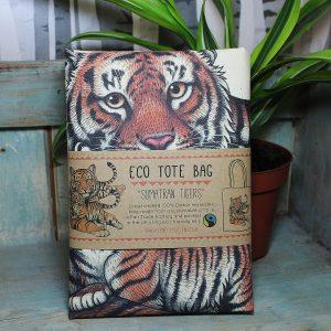 Sumatran Tigers Tote Bag ~ 100% Organic & Fairtrade Cotton
