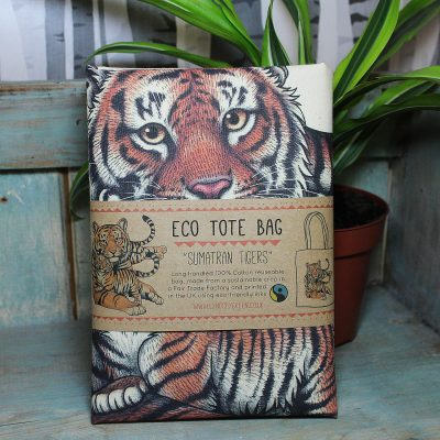 Sumatran Tigers Tote Bag ~ 100% Organic & Fairtrade Cotton