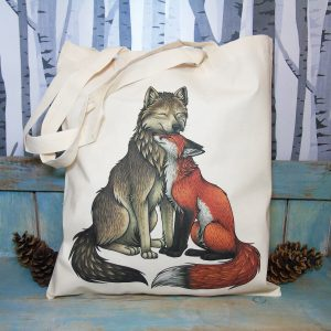 Wolf & Fox Tote Bag ~ 100% Organic & Fairtrade Cotton