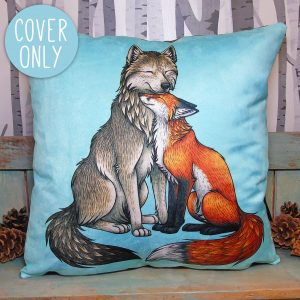 Wolf & Fox Vegan Cushion Cover