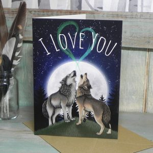 Wolf Song 'I Love You' Greeting Card