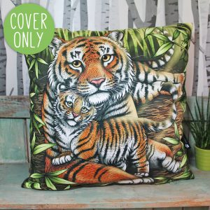 Sumatran Tiger & Cub Cushion Cover