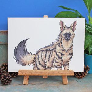 Aardwolf Illustration – A4 Print