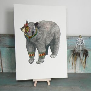 The Bear Illustration – A4 Print