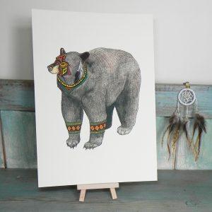 The Bear Illustration – A4 Print
