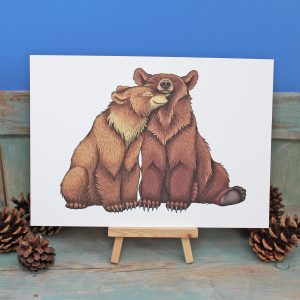 Bear Couple Illustration – A3 Print