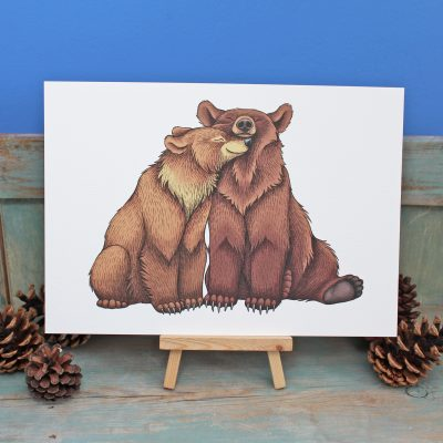 Bear Couple Illustration – A3 Print