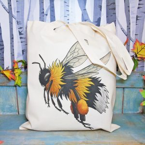Bumblebee Tote Bag ~ 100% Organic & Fairtrade Cotton