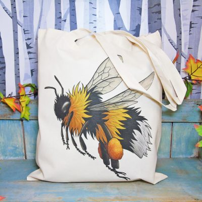 Bumblebee Tote Bag ~ 100% Organic & Fairtrade Cotton