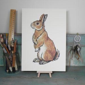Bran the Bunny Illustration – A4 Print