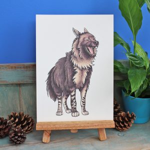 Brown Hyena Illustration – A4 Print