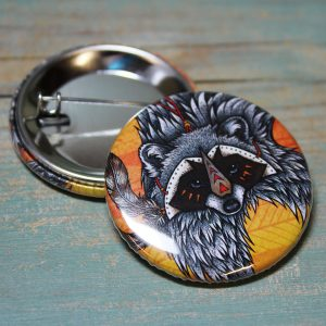 Raccoon Illustration Badge