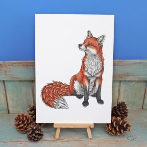 Red Fox Illustration – A4 Print