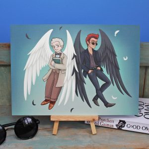 'Our Own Side' Good Omens Inspired Illustration – A4 Print