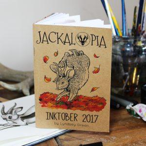 Jackalopia ~ Inktober 2017