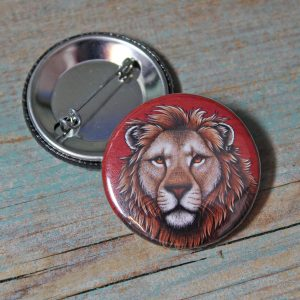 Lion Illustration Badge