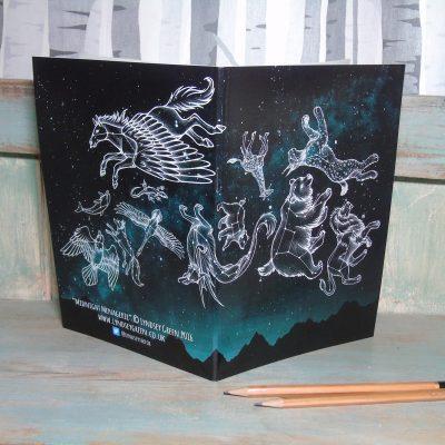 Midnight Menagerie Illustration Notebook