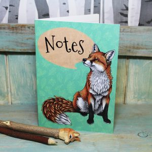 Red Fox Illustration Notebook