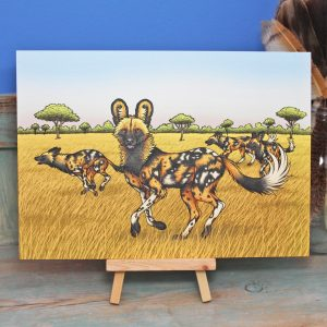 African Painted Dogs Illustration – A4 Print