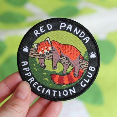 Red Panda Appreciation Club Iron On Patch