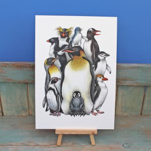 Penguin Obsession Illustration – A4 Print