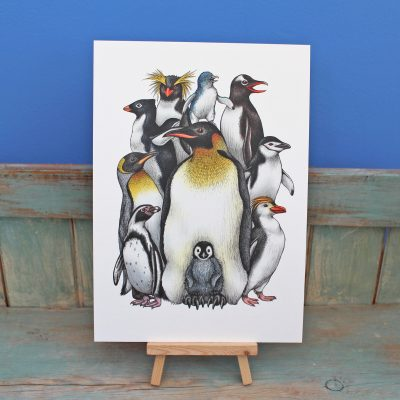 Penguin Obsession Illustration – A3 Print